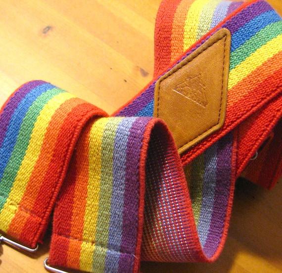 Crazy Rainbow Suspenders - Extra Wide 1970s Vintage
