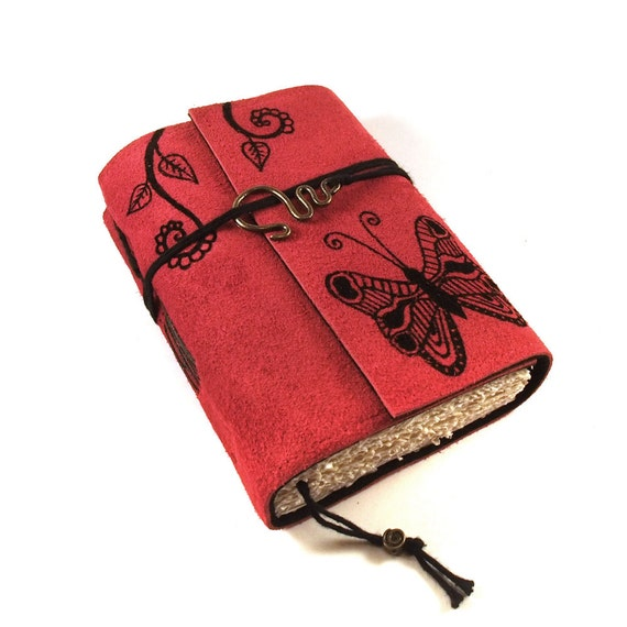 Leather Journal, Suede: Butterfly