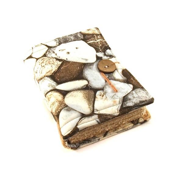 Written in Stone , Fabric journal, Handmade book