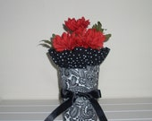 Fabric Vase Cover Wrapper Paisley Dot