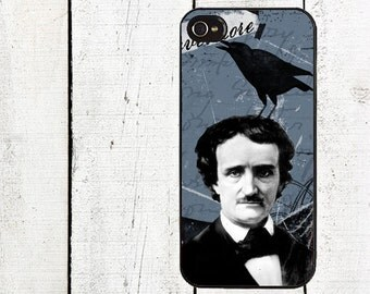 iphone 6 case Edgar Allan Poe iPhone Case - iPhone 5 Case - iphone 4 4s - Raven - Galaxy s3 s4 s5