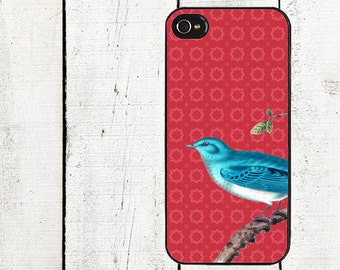 Blue Bird Phone Case for  iPhone 4 4s 5 5s 5c SE 6 6s 7  6 6s 7 Plus Galaxy s4 s5 s6 s7 Edge
