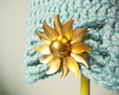 Sky Blue Flapper Style Cloche Hat - Design your own hat with colors and brooches - Winter Hats for Women and Baby Girls