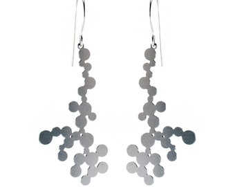 Dendrite Earrings (stainless steel)