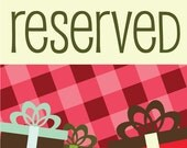 Reserved Listing for Melody