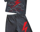 Lightning Baby Long sleeves Organic Tee and Pants (set)