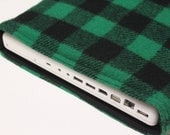 Men's MacBook Pro 13 Inch Case Laptop Sleeve Handmade Padded Cover - Wool Plaid