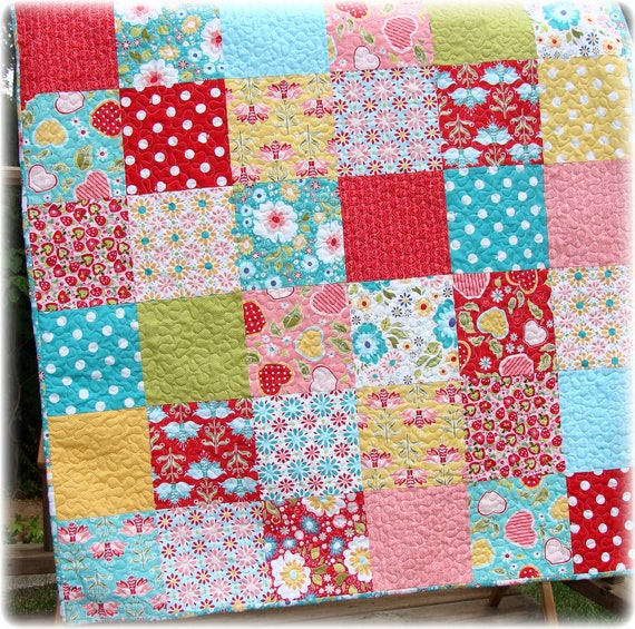 Baby Quilt Apple of My Eye Patchwork Custom Made to Order LAST ONE