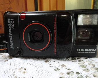 Chinon Handy Zoom 5001 Automatic Film Camera From the 1980s.