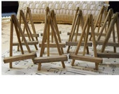 "Vintage Small Handmade 2-1/2"" Wooden Easels by the Dozen"