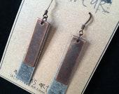 STEAMPUNK Long Metal Earrings in two tones
