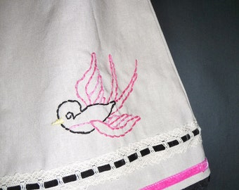 Future Heirloom DRESS - Hand Embroidered Linen Mix - Pick the size Newborn up to 12 Years by Boutique Mia