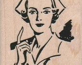Nurse retro    rubber stamp   number 6311  wood mounted unmounted rubber or cling stamp