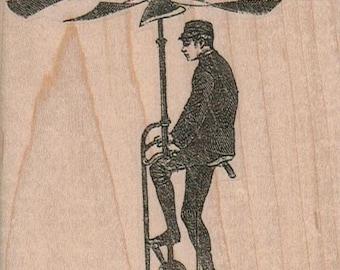 Propellor Man  stamp Steampunk Victorian    rubber stamp      no 16066
