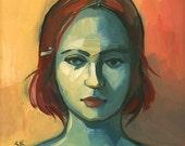 Joanna - Mini Oil Painting - Original Portrait on Wood Panel