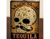 Magic Skull Tequila - stainless steel flask - 8oz.