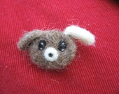 Needle Felted Dog Brooch Perfect for the Holidays