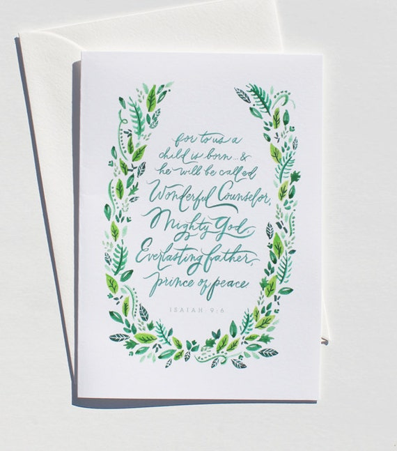 christmas print / 5x7 / isaiah 9:6