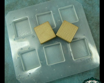 resin mold SCRABBLE TILES Handmade Plastic Mold also for polymer clay, pmc, plaster, soaps, plaster, etc