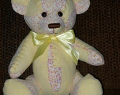 1) Memory Bear from quilts or clothing