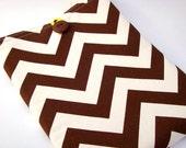 iPad Cover/iPad Sleeve-Brown and Ivory Chevron