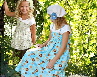 Daydreams pdf sewing pattern summer sundress 6 to 14 Smocked or Gathered
