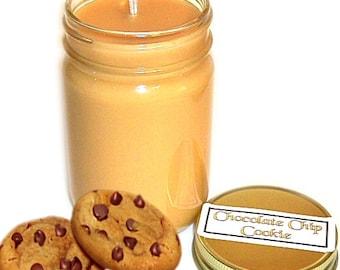 Chocolate Chip Cookies Mason Jar Candle Chocolate Cookie Scent 12 Oz Handmade
