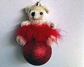 Ballerina Teddy Bear Christmas Tree Ornament Holiday Ornament Christmas Carmen