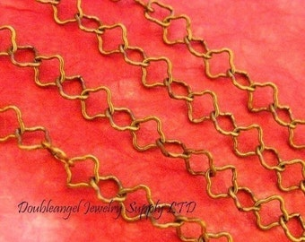 10 Feet Antique Bronze Flower Chains CHT086Y-AB