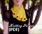 Autumn Ginkgo Scarflette: Knitting Pattern -- neck warmer / scarf PDF document / instant digital download