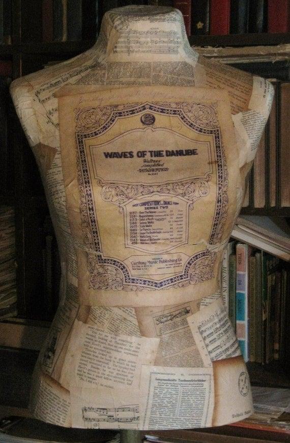 Danube Paper Mache Dress Form
