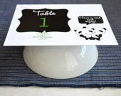 Panda Love Table Card Set of 20 - Recycled Paper