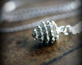 Pinecone - sterling silver necklace