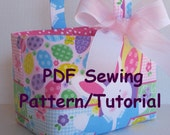 Fabric Easter Basket  - PDF Sewing Pattern/Tutorial -Three Different Looks - Fabric Storage Organizer Bin - Fabric Halloween Basket