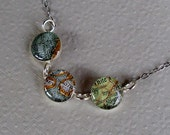 3 Map Memory Necklace Sterling Silver  Vintage Atlas Custom Destinations  Made to Order