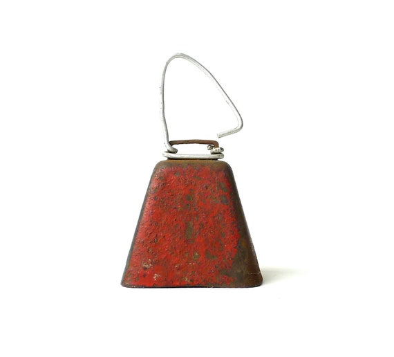 Vintage Red Dairy Farm Cow Bell