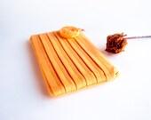 Handmade Orange Wedding Clutch Purse, Bridal Wedding Clutch, Bridesmaid Gift Idea Clutch, Gift for her