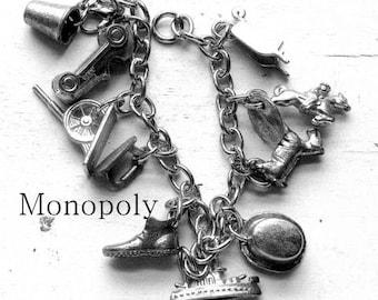 Monopoly Vintage  Tokens Charm Bracelet