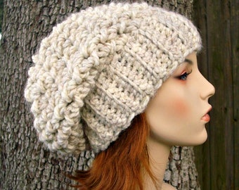 Wheat Womens Hat Slouchy Beanie Slouchy Hat - Souffle Beret Wheat Crochet Hat - Womens Accessories Fall Fashion Winter Hat