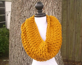 Circle Scarf Infinity Scarf Oversized Cowl Scarf - Vermonter Infinity Cowl Mustard Yellow - Mustard Scarf Mustard Cowl Womens Accessories