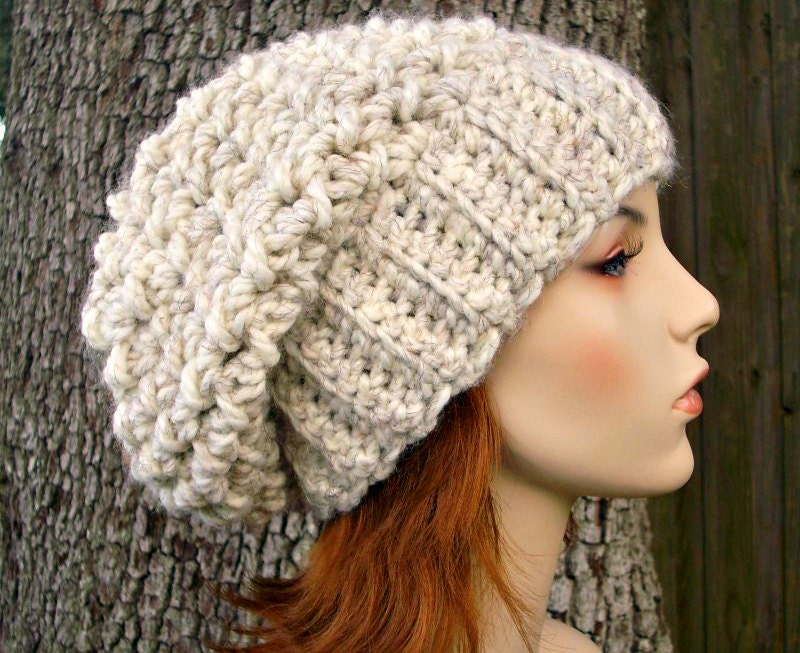 Crocheting Hats Patterns : etsy.comHand Crocheted Hat Womens Hat