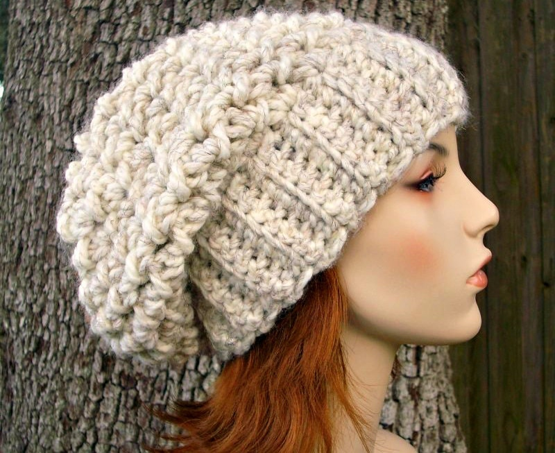 Crochet Stitches For Beanies : etsy.comHand Crocheted Hat Womens Hat
