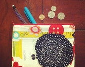 "NEW Bloom Clutch in ""Sew Wow"" and Dots"