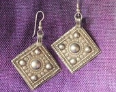 Antique Baluchi Earrings (Silver, Diamonds)
