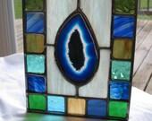 Small Blue Agate Square