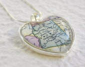 Arizona Map Necklace - Arizona featuring Phoenix, Tucson, Flagstaff, Tempe, Yuma, and The Grand Canyon