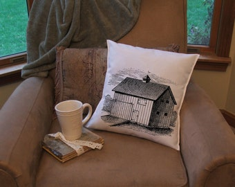 barn  throw pillow cover,   pillow cover, farm