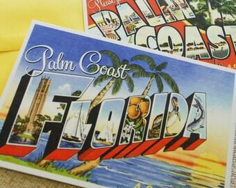 Vintage Travel Postcard Wedding Invitation (St. Petersburg, Florida)