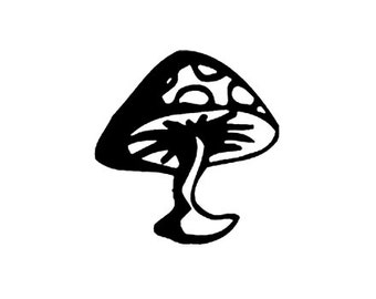 CLEARANCE Mushroom Toadstool Rubber Stamp