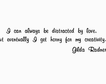 CLEARANCE SNL Gilda Radner Quote Rubber Stamp Saturday Night Live